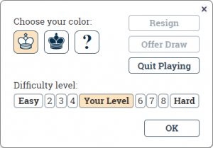 play against computer at DecdeChess